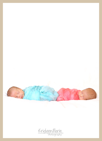 newborn twin artwork
