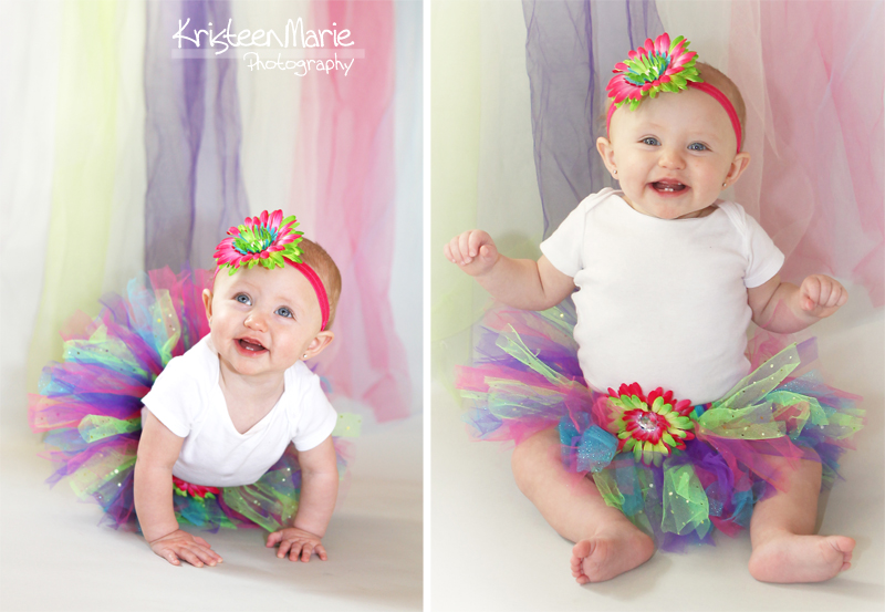 The Birthday Girl in a Colorful Tutu and Headband