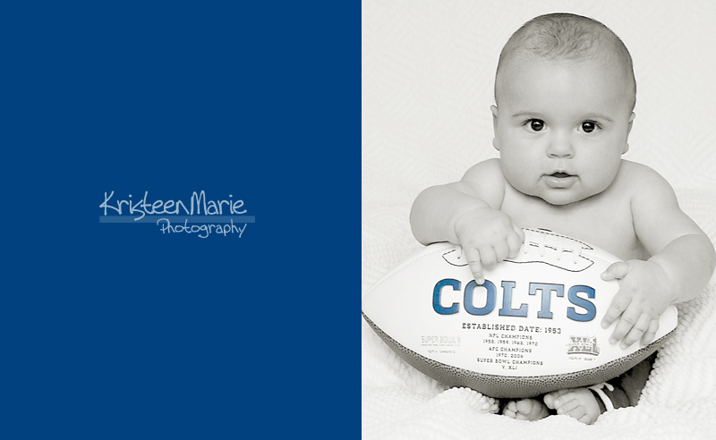 Baby with Colts Football