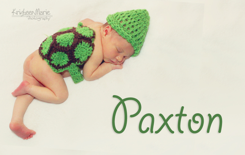 Baby Paxton in Turtle Outfit
