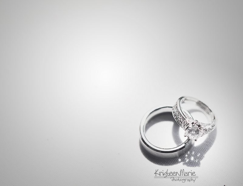 Wedding Rings in Black and White