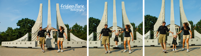 Family Pictures at the Purdue Engineering Fountain
