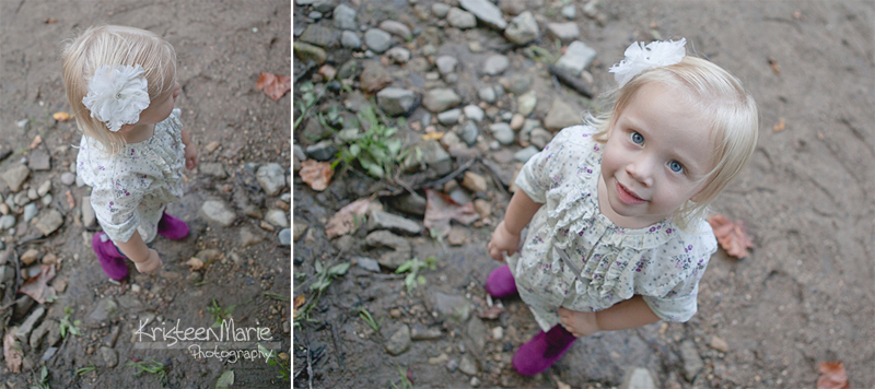 Little Girl in Purple Boots