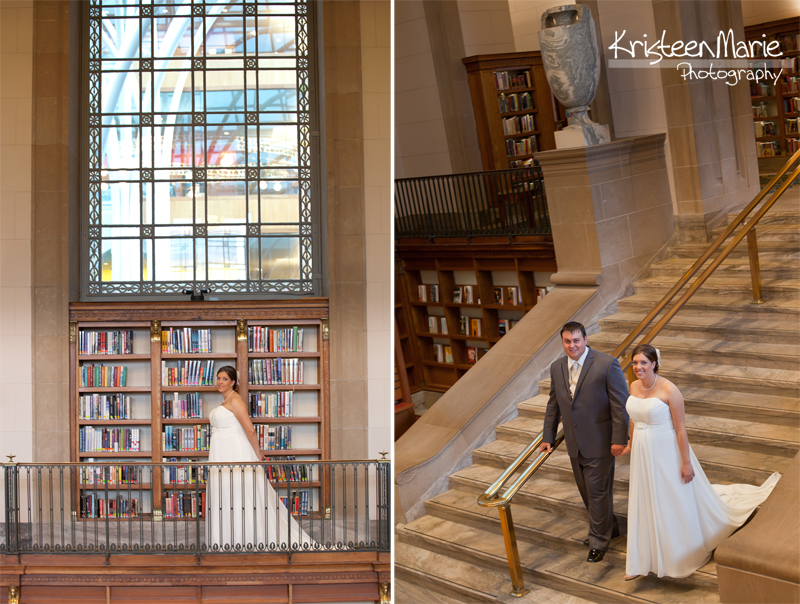Bridal Couple at the Library