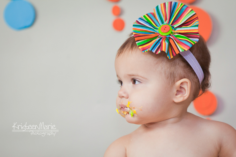 Little Girl with Cake on Face
