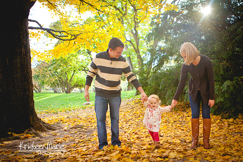 Family with fall colors