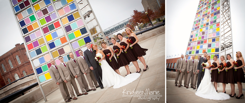 Wedding Picture Downtown Indianapolis