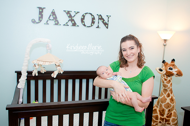 Jaxton in his room with mother
