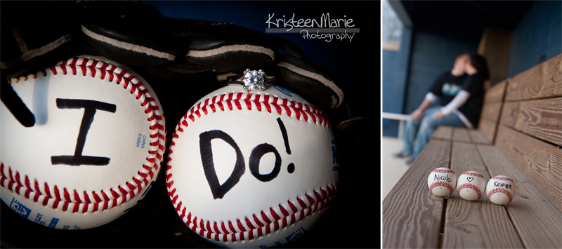 Baseball Engagement Picture