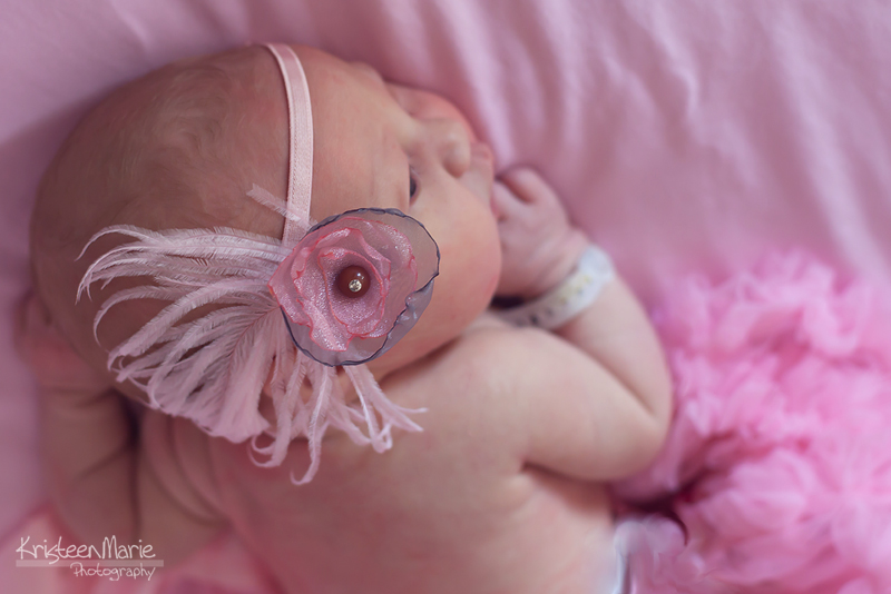 Pretty newborn in pink