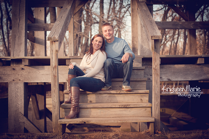Engagement picture on steps