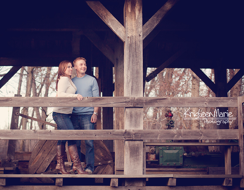 Rustic Engagement Picture