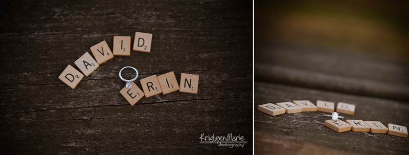 Scrabble pices and engagement ring