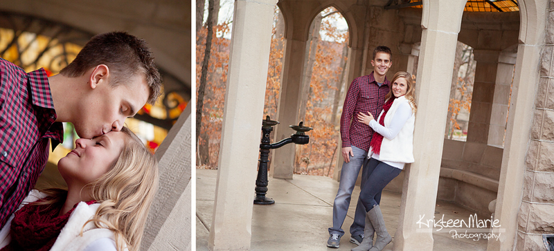 Engagement pictures on Indiana Univeristy's Campus