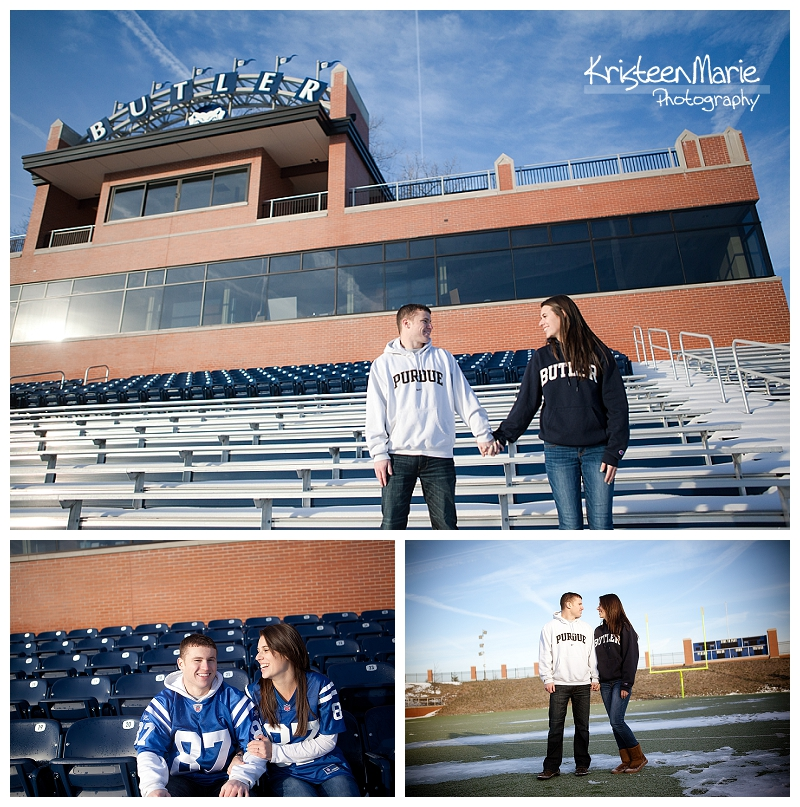 Butler University Winter Engagement Picture