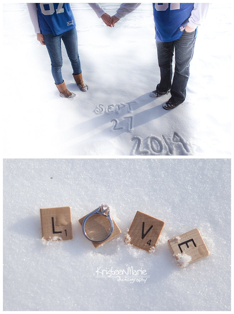 Save the Date and Love Engagement Picture