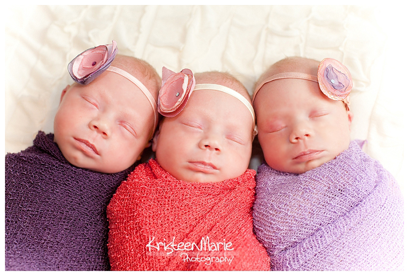Triplet Newborn Girls