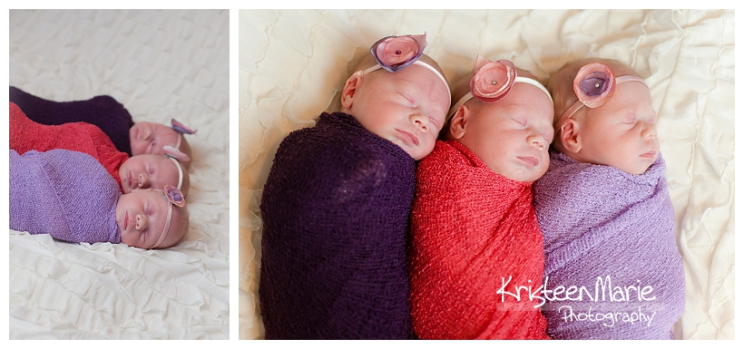 Sweet Babies in Pink and Purple