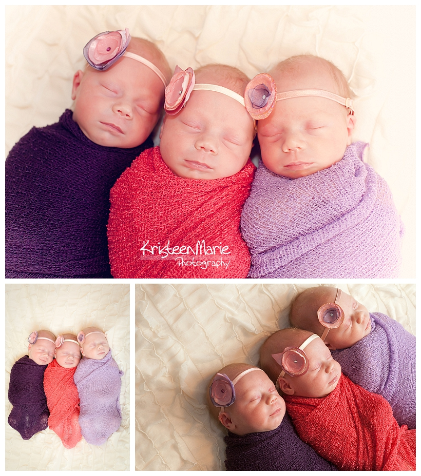 Indianapolis Triplet Newborn Photography