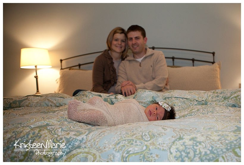 Beautiful Family with newborn baby girl