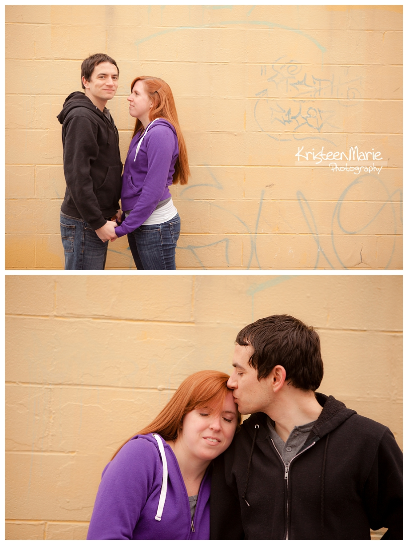 Purple and Yellow Engagement Picture