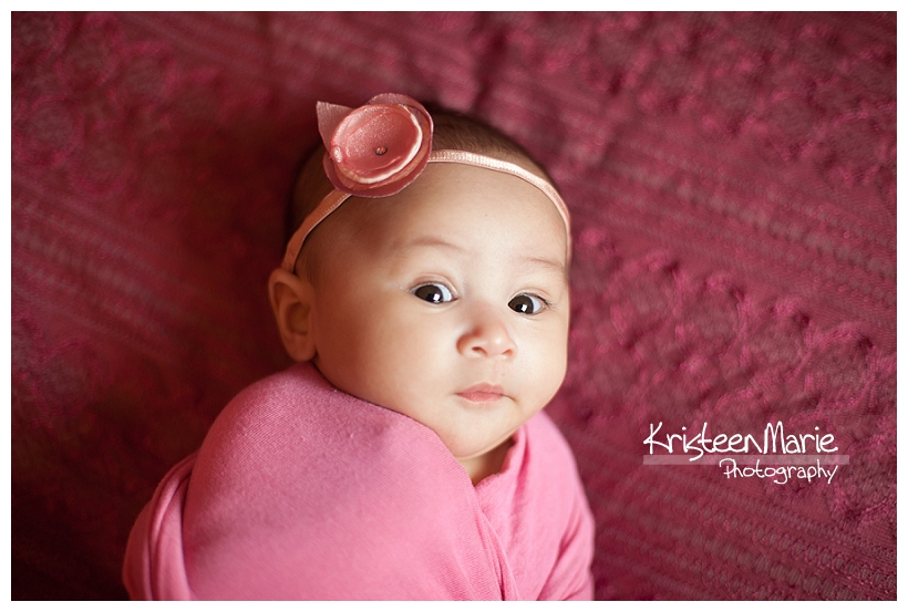 3 Month old in pink