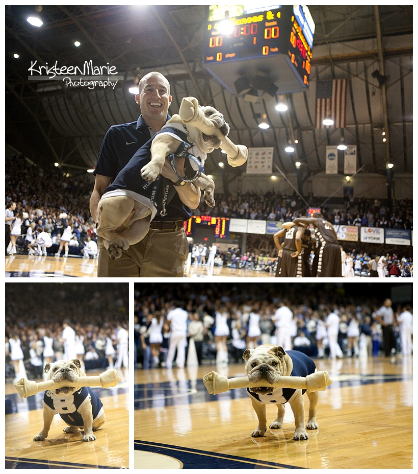 Blue II and Michael at Butler Baskeball Game