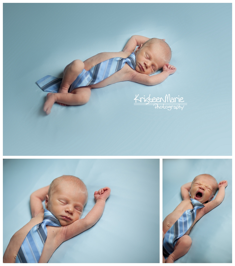 Newborn sleeping in Tie