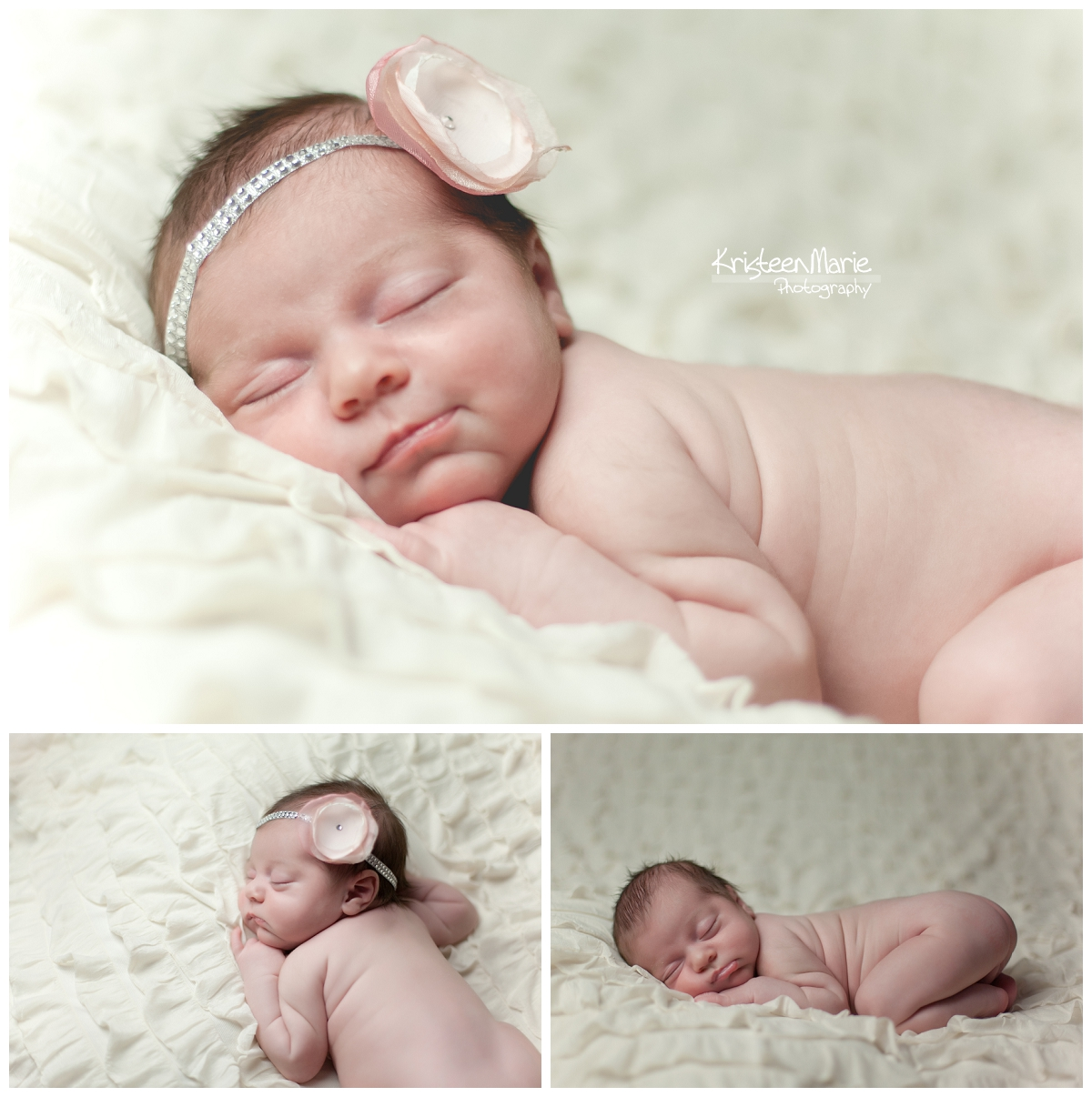 Newborn Photography Cream and Pink