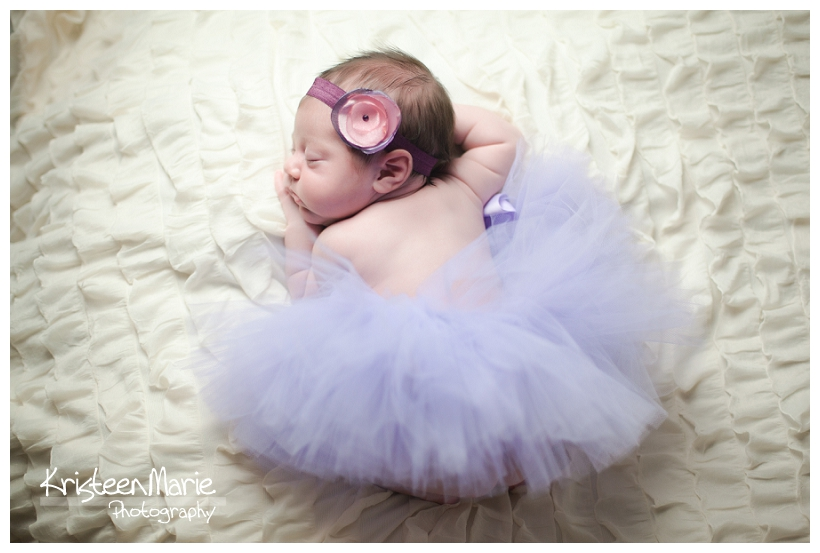 Sleeping baby girl in tutu