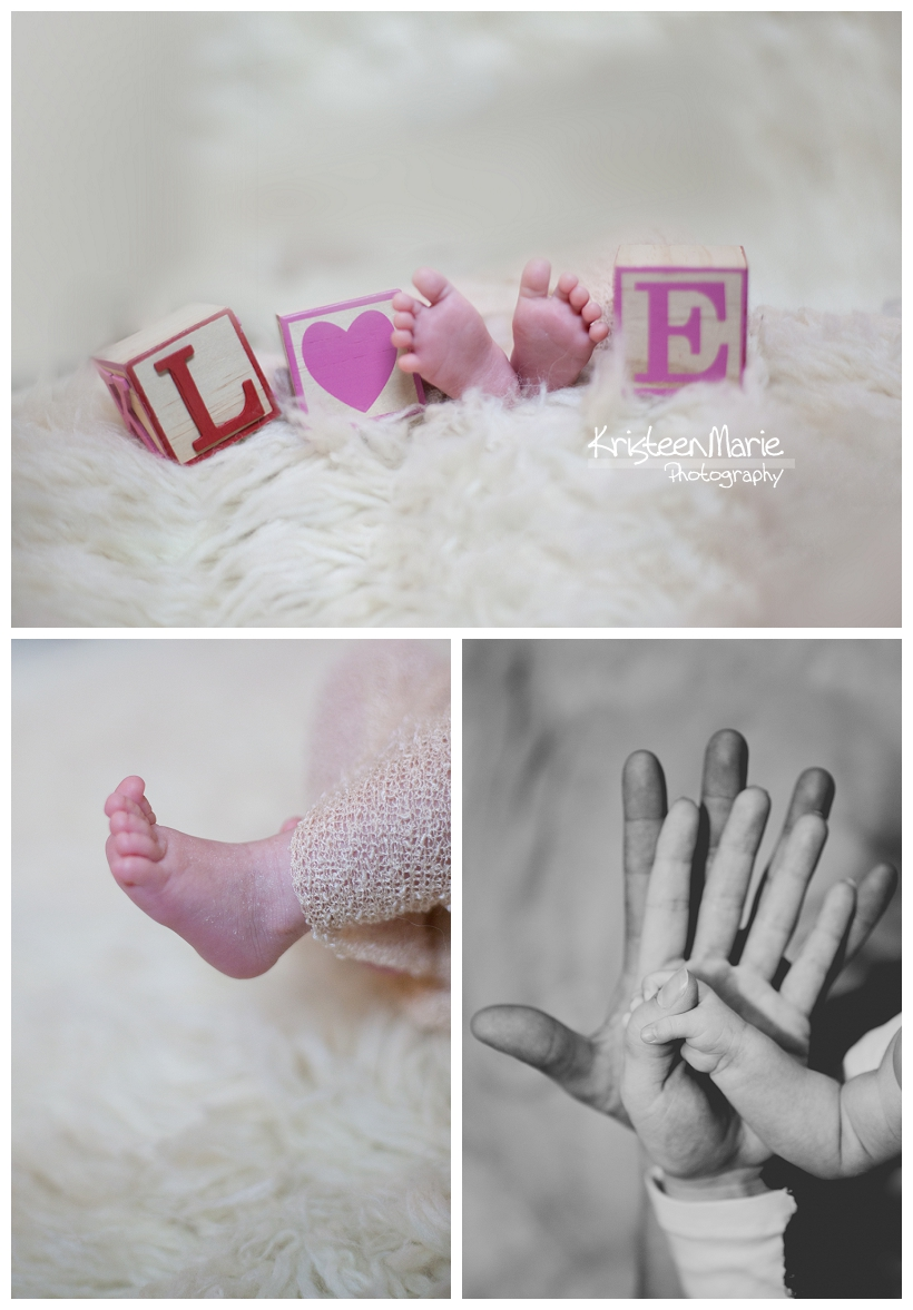 Baby Feet and Love Blocks