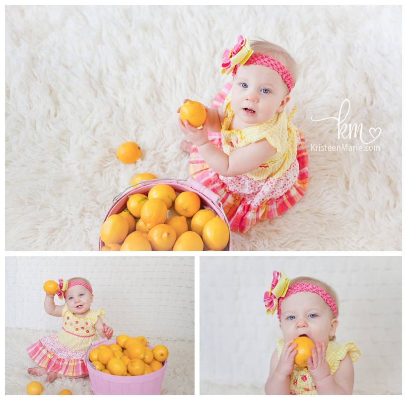 Pink and Yellow Lemonade Birthday Pictures