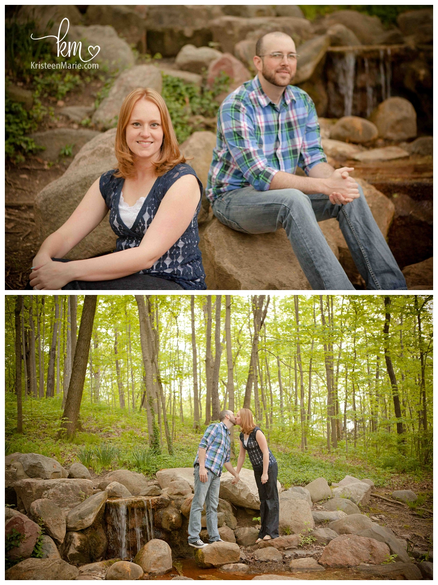 Outdoor engagment photography