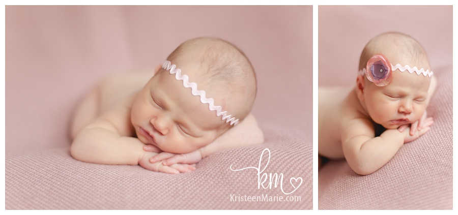 sleeping baby with headband