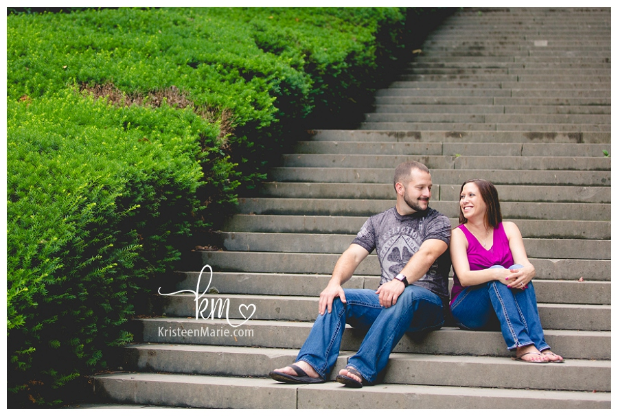 Engaged couple in Broadripple