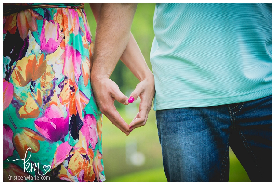 heart in hands engagement picture
