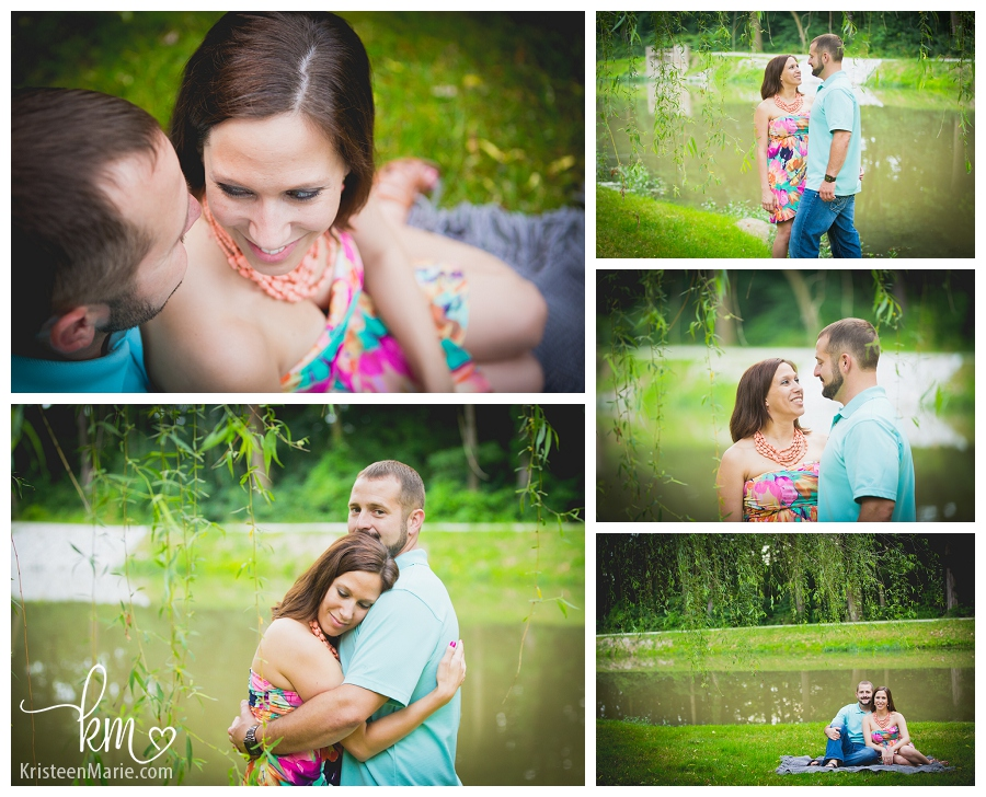 couple under weeping willow tree