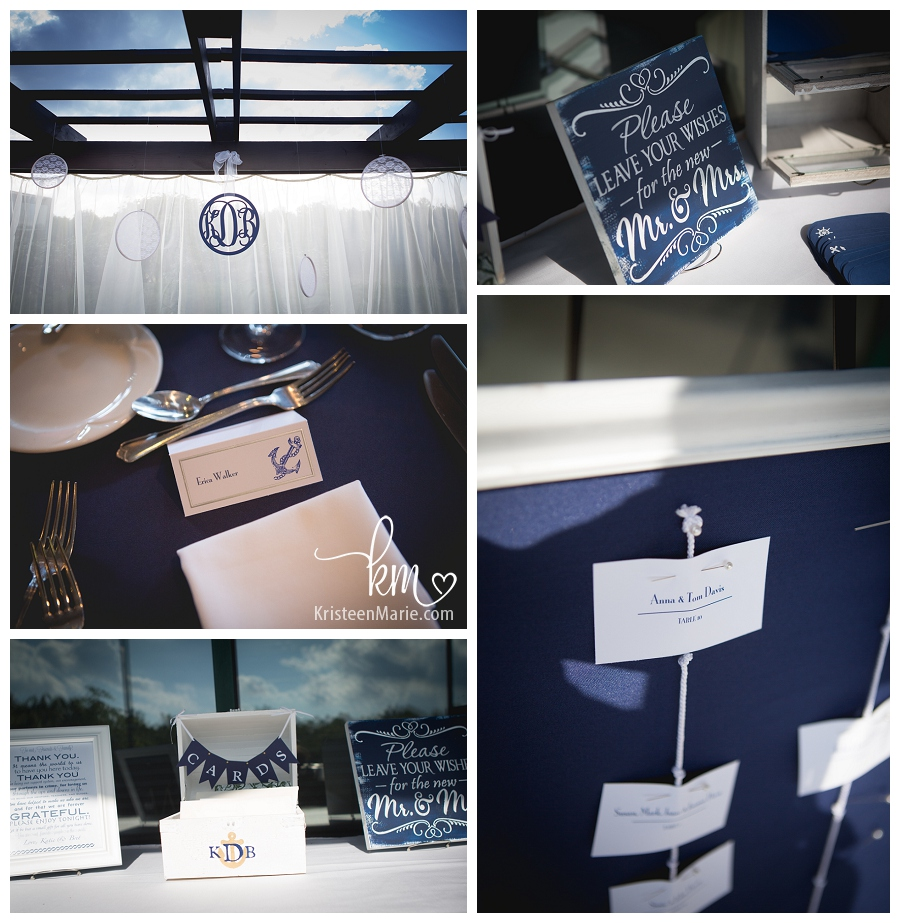 nautical themed wedding details
