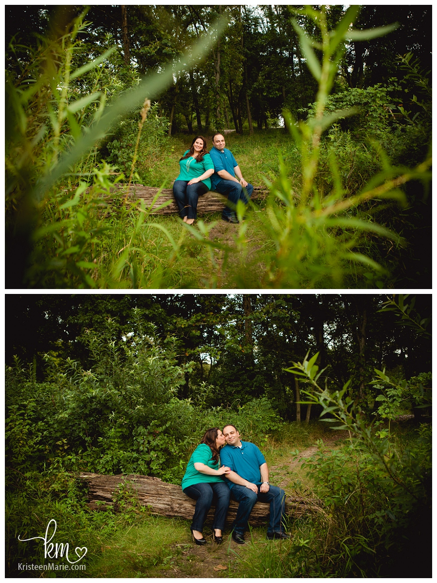engagement picture in greenery