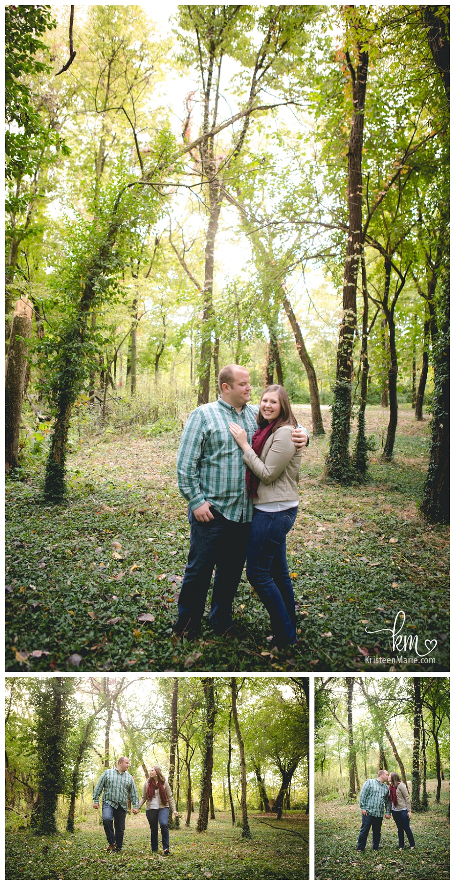 outdoor engagement pictures in the Fall