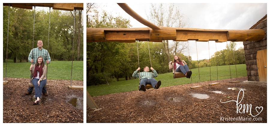 couple on the swings