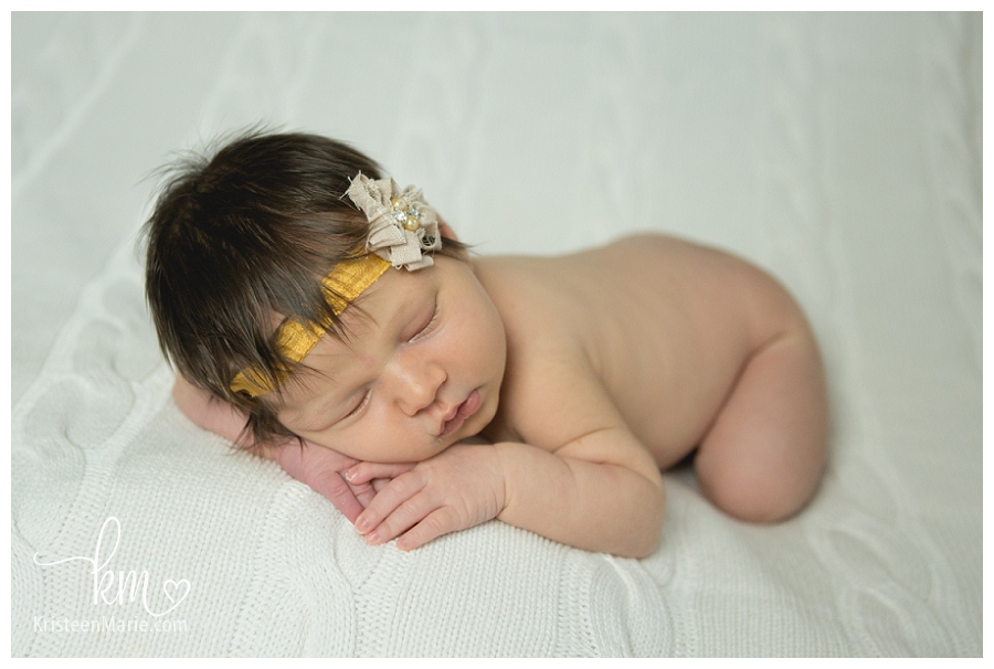 Newborn Baby Girl Dark Hair Newborn Baby Girl With...