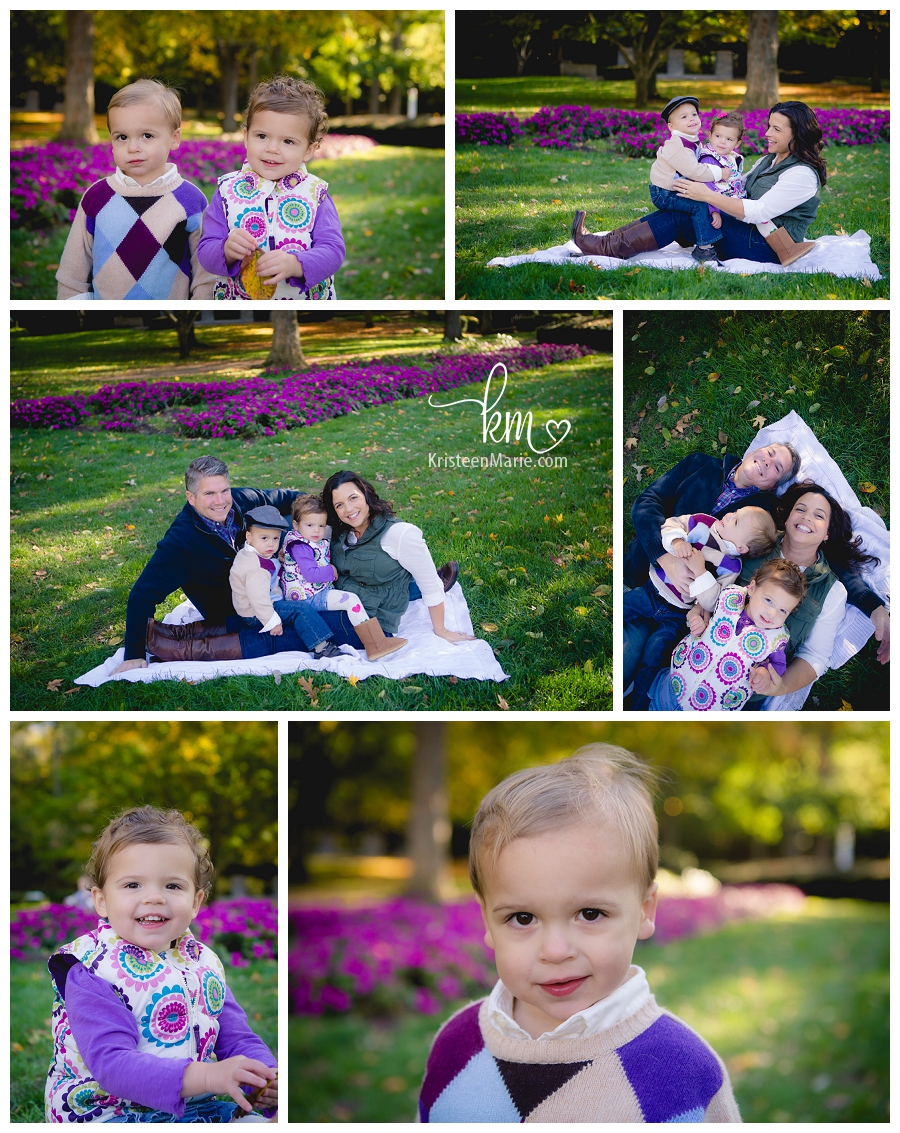 family photography with twins in Fall