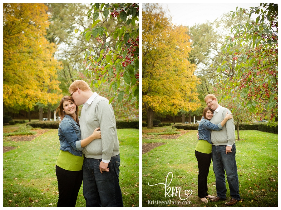 Fall Engagement Picture in Central Indiana