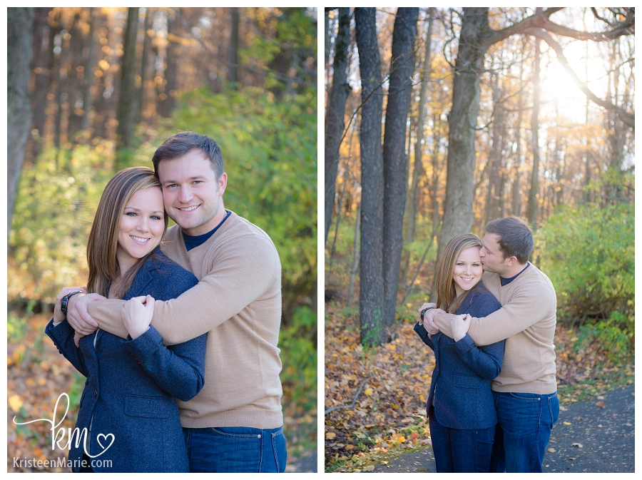 engagement photography on path
