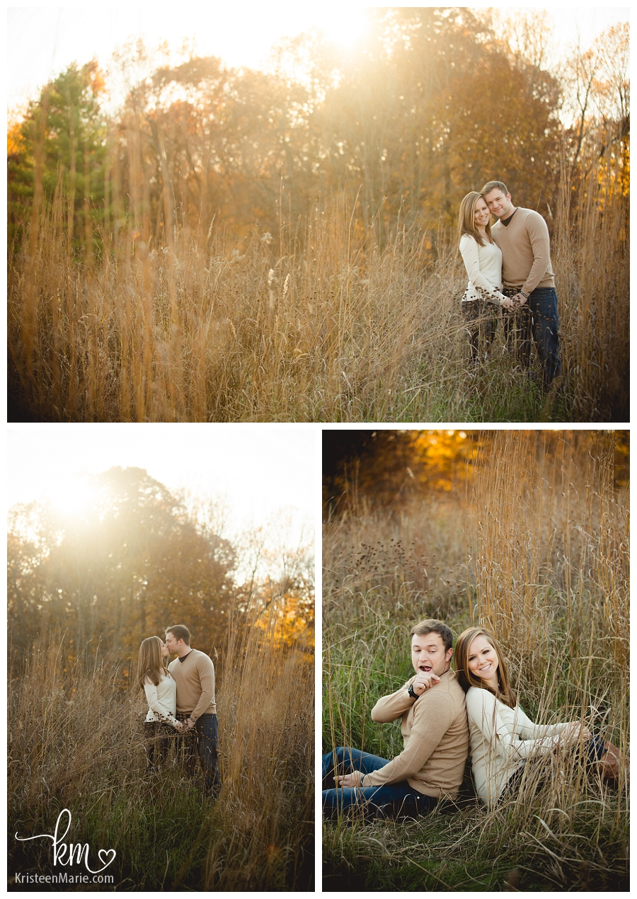 Indianapolis fall engagement photography