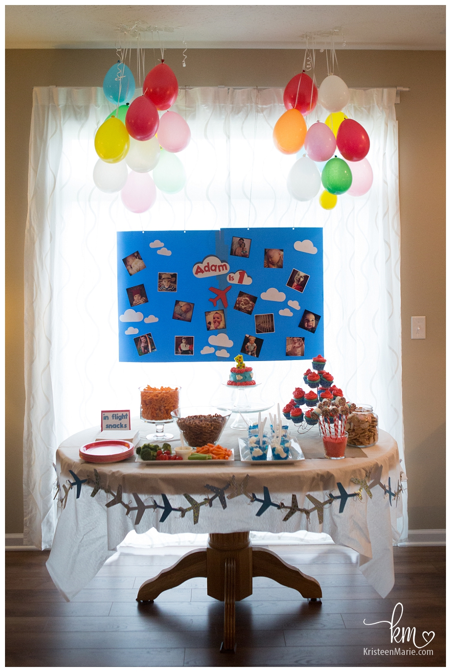Treat table for Plane Birthday Party