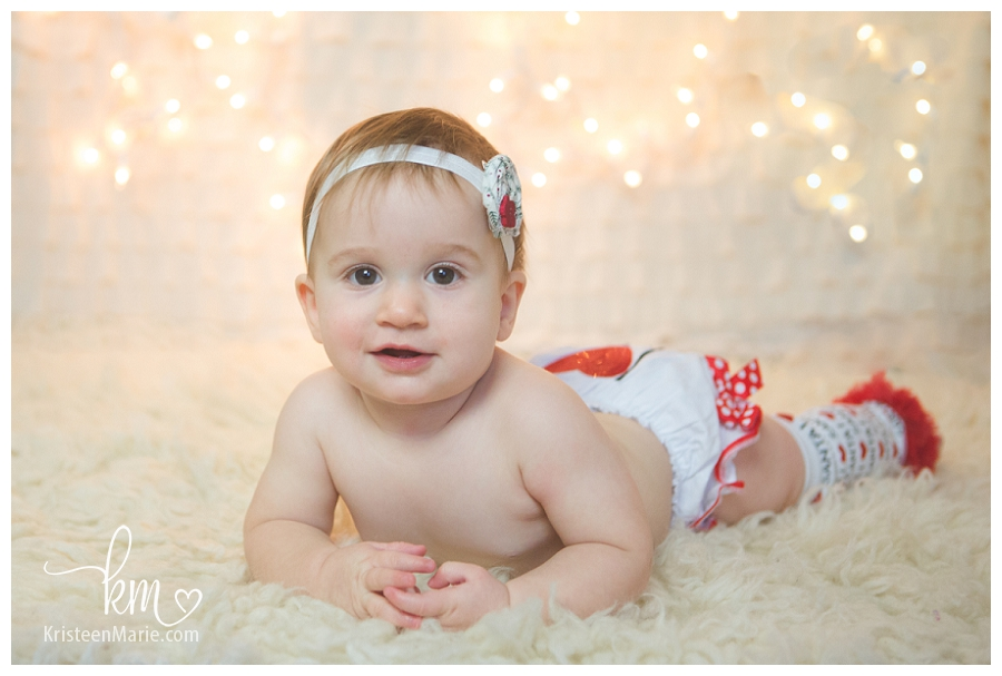 Happy Baby on Christmas Card