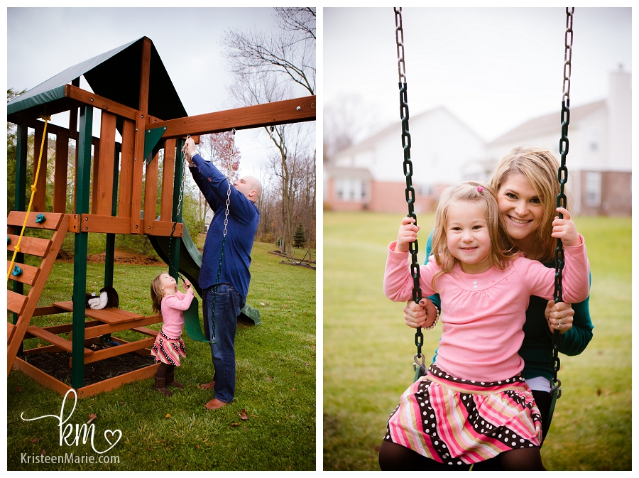 The swing set