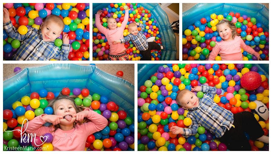 kids in ball pit